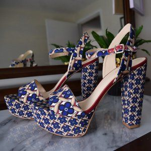 Nine West Blue Platform Sandals- Size 9.5 - NEW